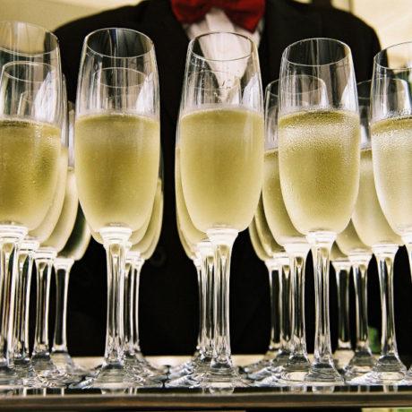 dégustation champagne flûtes