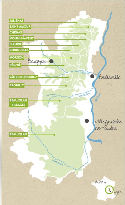 carte crus beaujolais